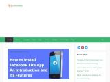 installation of facebook lite