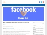 How to unfriend a person on facebook