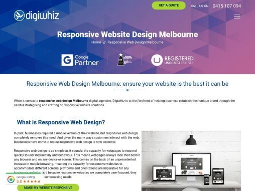 Responsive web design in Melbourne