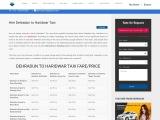 Dehradun to Haridwar Taxi/ Cab