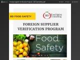 Foreign Supplier Verification Program – BD Food Safety