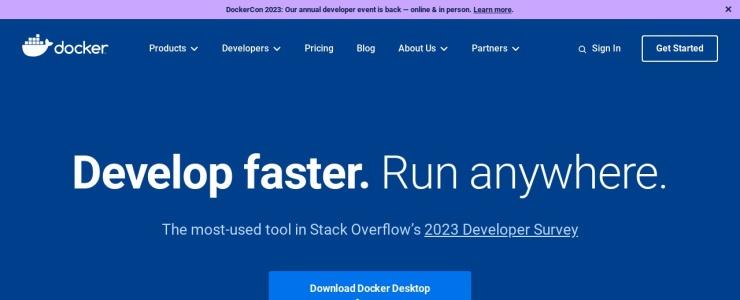 screenshot of Docker
