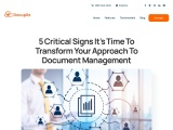 5 Critical Signs It's Time To Transform Your Approach To Document Management