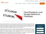 Cloud storage and Local storage