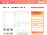 Custom Sticker Printing Services | Vinyl Sticker Printing in UK