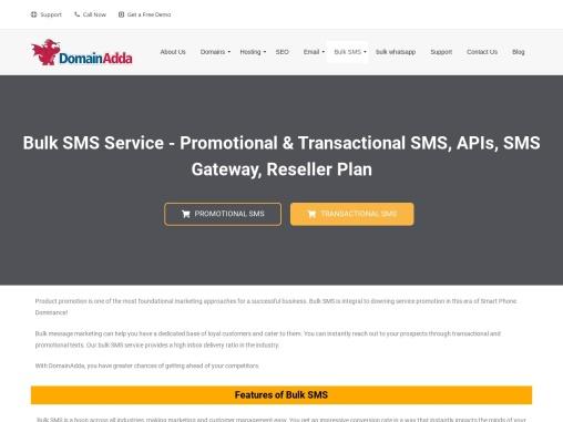India's No. 1 Bulk SMS Service – Send SMS Via Web, Email Or API