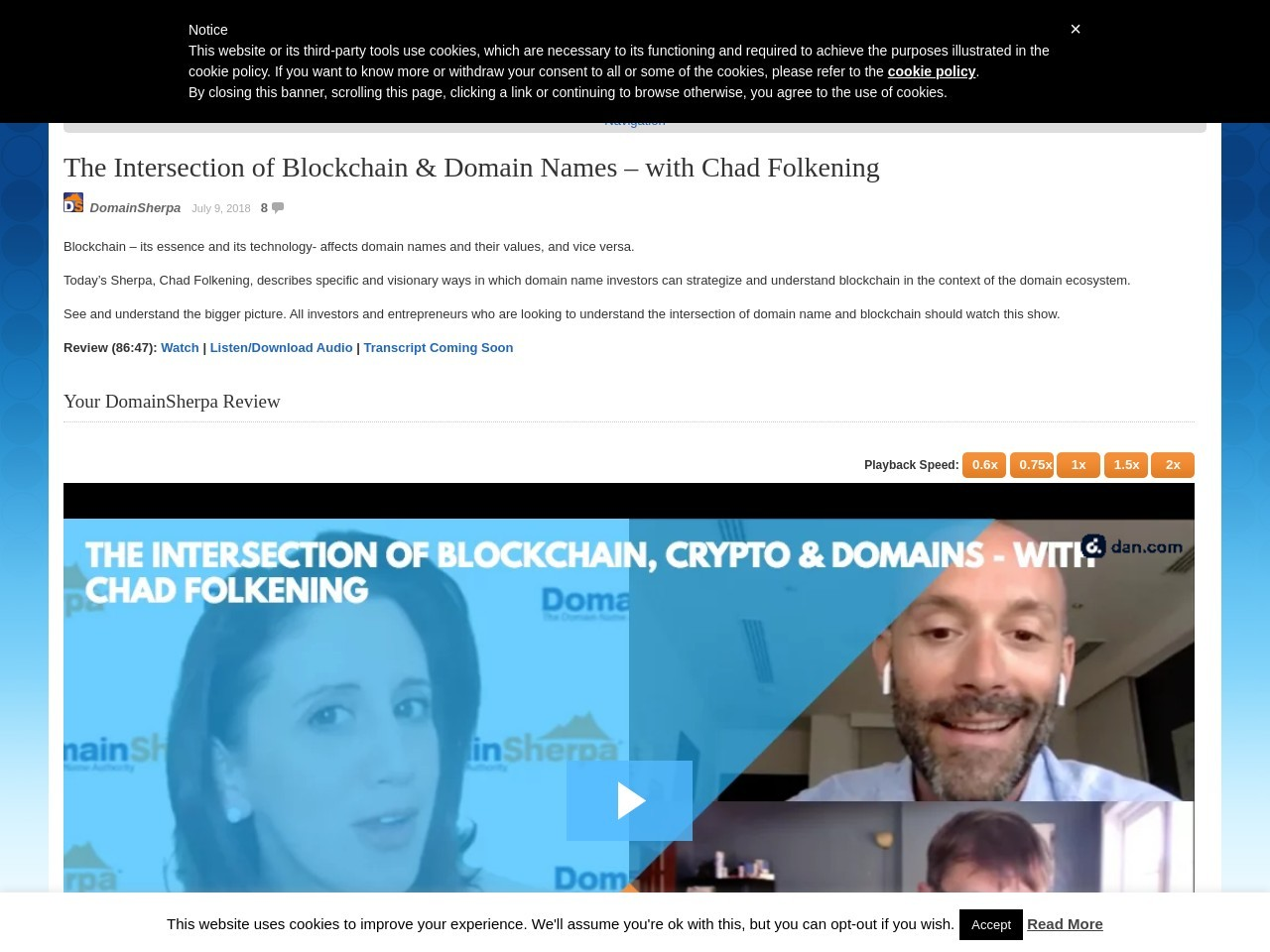 The Intersection of Blockchain & Domain Names – with Chad Folkening