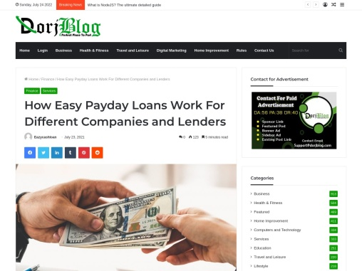 How Easy Payday Loans Work For Different Companies and Lenders