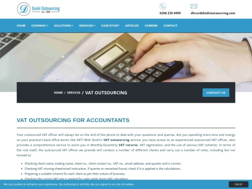 Outsourced VAT Return Services UK – Doshi Outsourcing