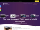The new Segway APEX H2 electric hydrogen hybrid motorcycle