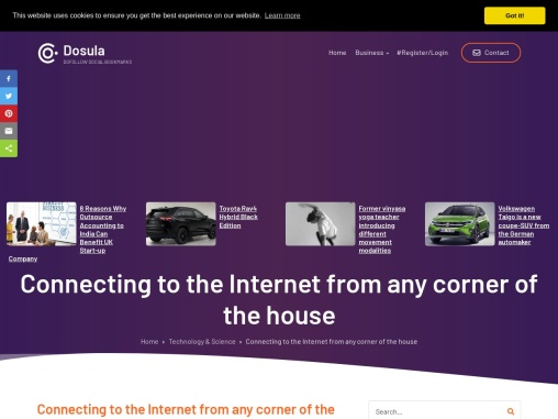 Connecting to the Internet from any corner of the house
