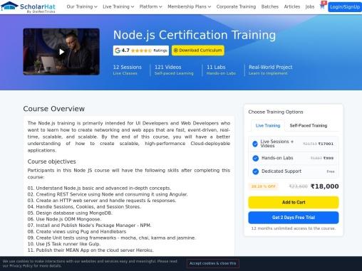 Node js certification – Dot Net Tricks