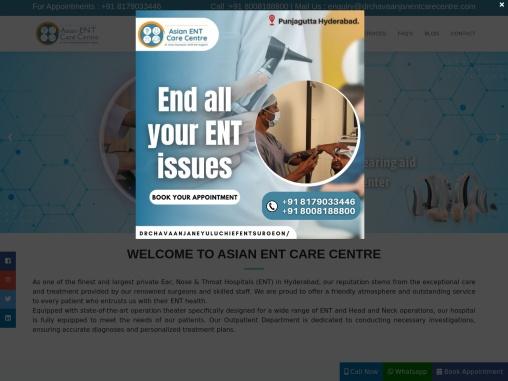 Dr Chava Anjan ENT Care Centre Best ENT care centre in Hyderabad