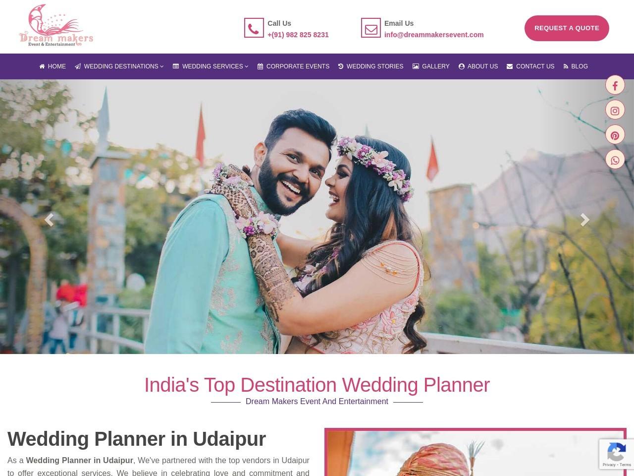 Dreammakers – Destination wedding in Udaipur