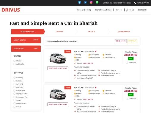 Cheapest Rent a Car in Sharjah   Car Hire   Car Rental in Sharjah   Al Nahda   Al Taawun   Al Khan  