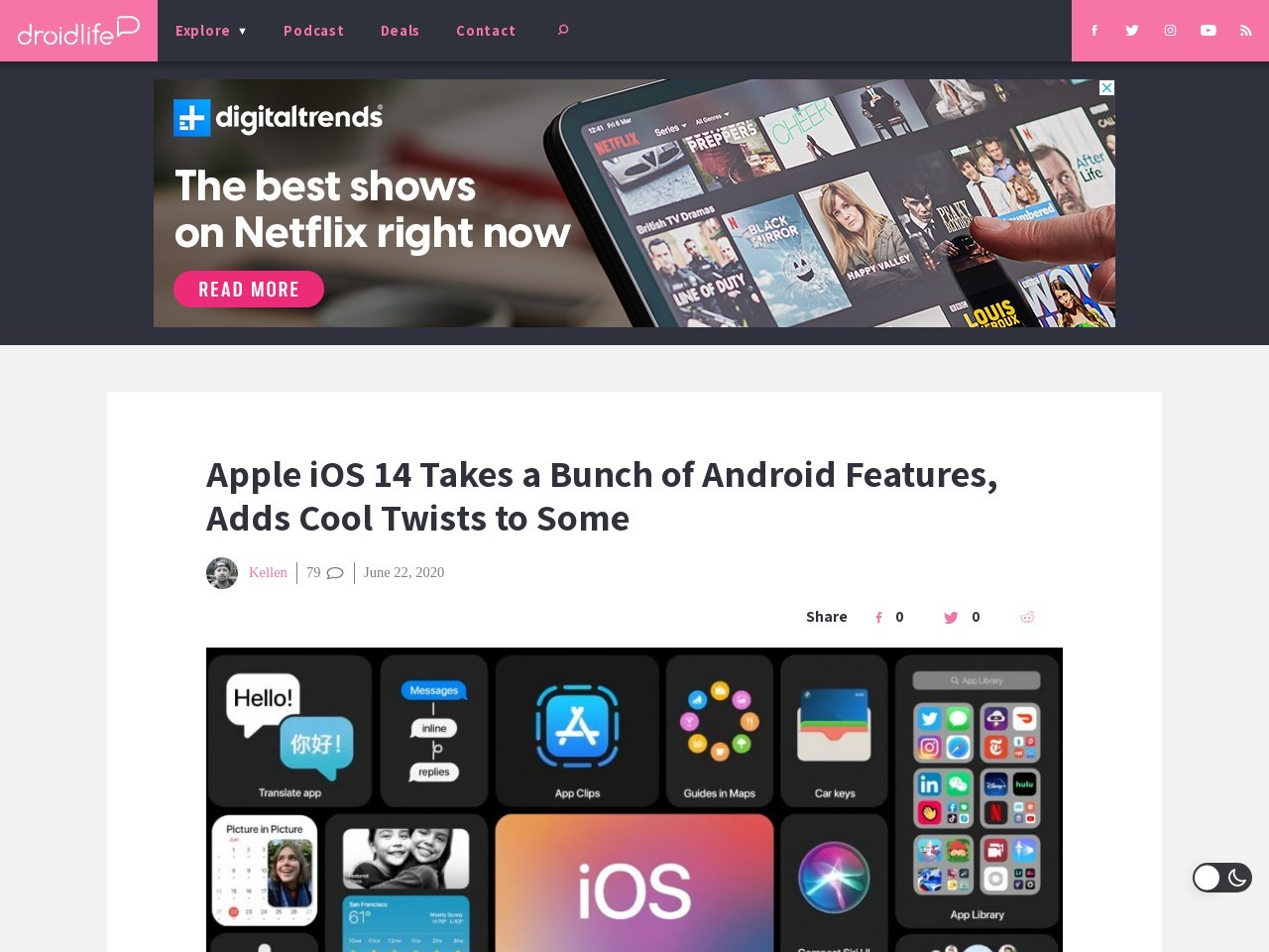 Apple iOS 14 Takes a Bunch of Android Features, Adds Cool Twists to Some
