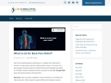What to Do for Back Pain Relief   Hip Surgeon