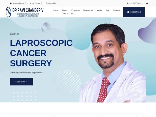 Best Surgical Oncologist in Hyderabad: Dr Ravi Chander