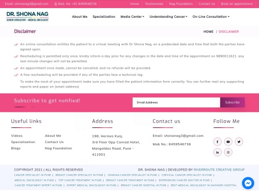 Online Consultation   Book your appointment with Dr. Shona Nag