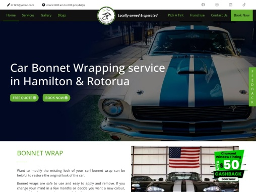 Car Bonnet Wrapping in Hamilton | Dr. Tint Hamilton