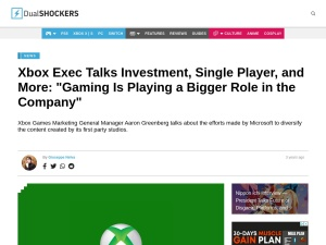 """Xbox Exec Talks Investment, Single Player, and More: """"Gaming Is Playing a Bigger Role in the Company"""""""