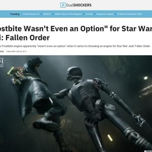 """Frostbite Wasn't Even an Option"" for Star Wars Jedi: Fallen Order"