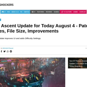 The Ascent Update for Today August 4 - Patch Notes and File Size