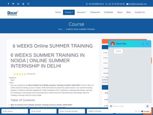 6 Weeks Industrial training in training in Delhi