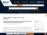 best autocad training institute  in south extension