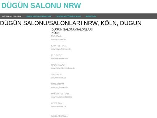 Türkische Dügün Salonu In Köln, Düsseldorf, Dortmund, Duisburg, Neuss Und Dormagen