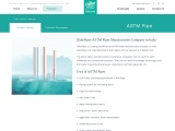 Best ASTM Pipes Manufacturers Company in India