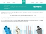 uPVC pipes manufacturers company in India