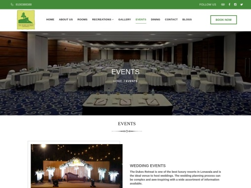 Dream Destination wedding venues in lonavala – The Dukes Retreat