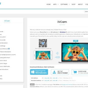 iVCam - Use mobile phone as a PC webcam | E2ESOFT