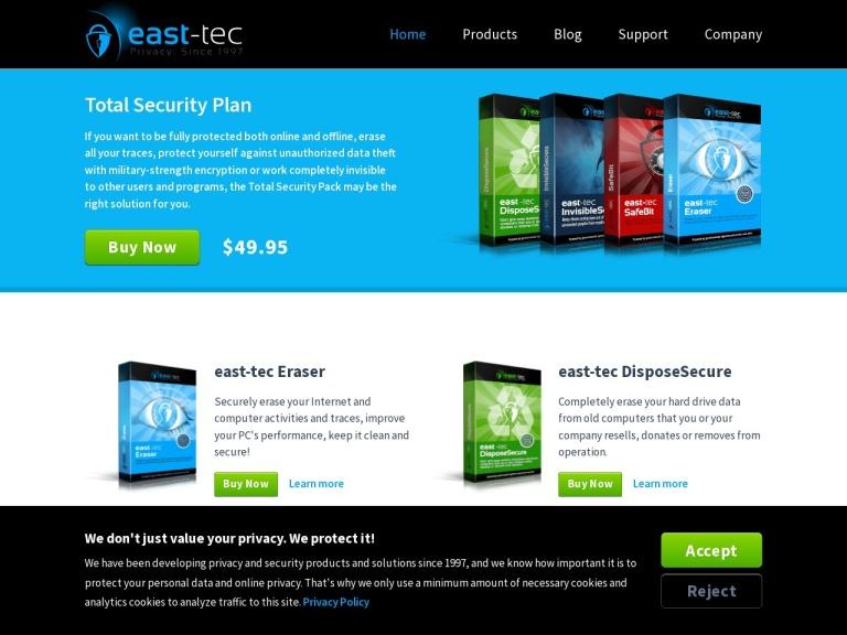 East-Tec Coupon Code screenshot