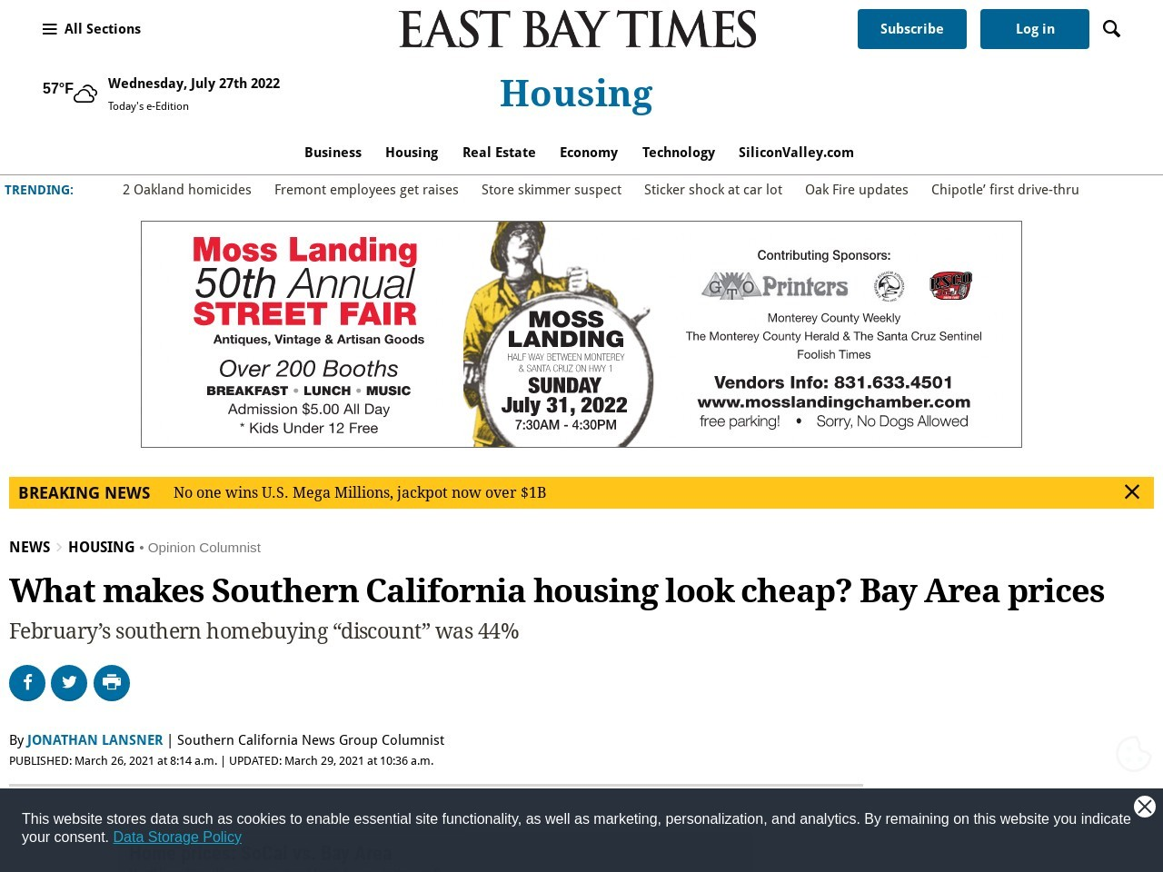 What makes Southern California housing look cheap? Bay Area prices – East Bay Times