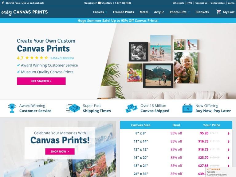 Easy Canvas Prints Promo Code screenshot