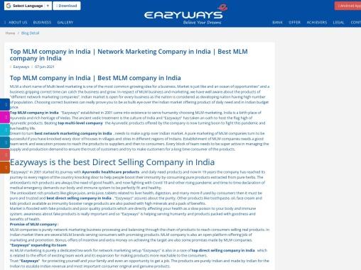 Best MLM company in India   Eazyways Arogya Healthcare
