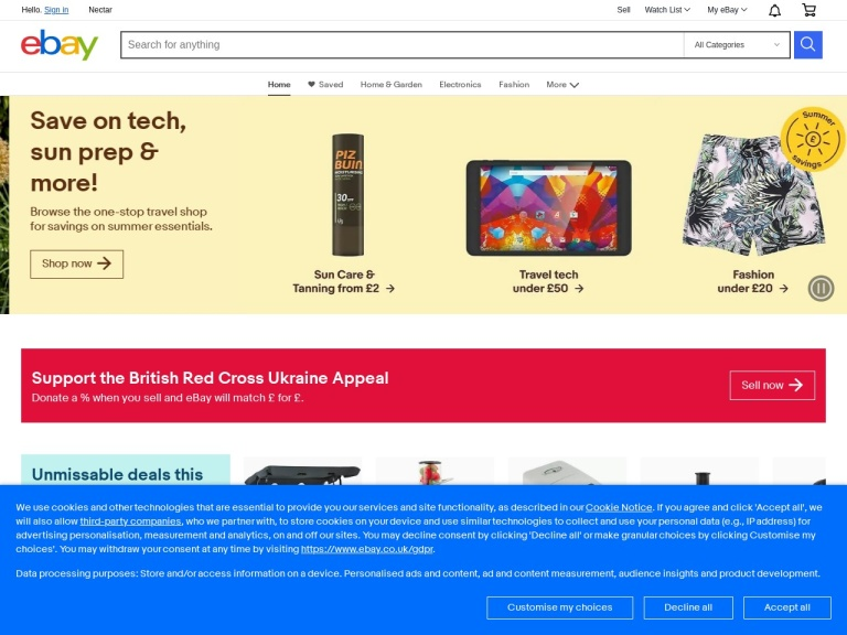 Ebay Uk screenshot