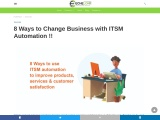 8 Ways to Change Business with ITSM Automation !!   Echelon Edge