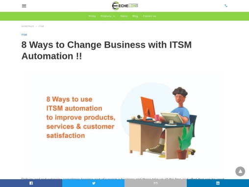 8 Ways to Change Business with ITSM Automation !! | Echelon Edge