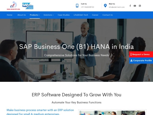title :SAP Business one in India