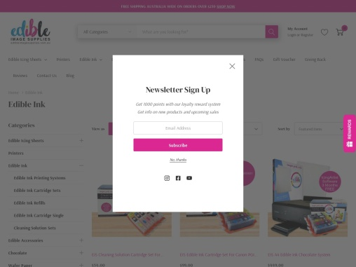 vibrant cyan edible ink to refill