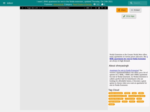 1 BHK Flats for rent in noida extension | 1 BHK apartment for rent in noida extension