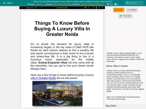 Very Important Things To Know Before Buying A Luxury Villa In Greater Noida