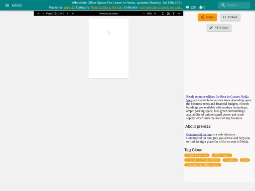 Best Office Space For Rent In Noida Extension