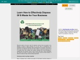 Learn How to Effectively Dispose Of E-Waste for Your Business