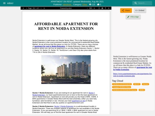 Best Flats for Rent in Noida Extension