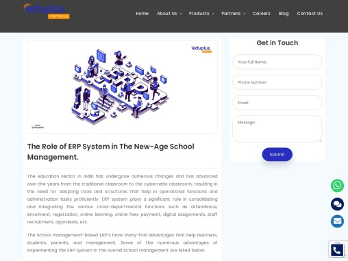 The Role of ERP System in The New-Age School Management.