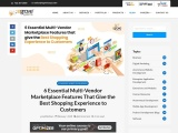 6 Essential Multi-Vendor Marketplace Features That Give the Best Shopping Experience to Customers